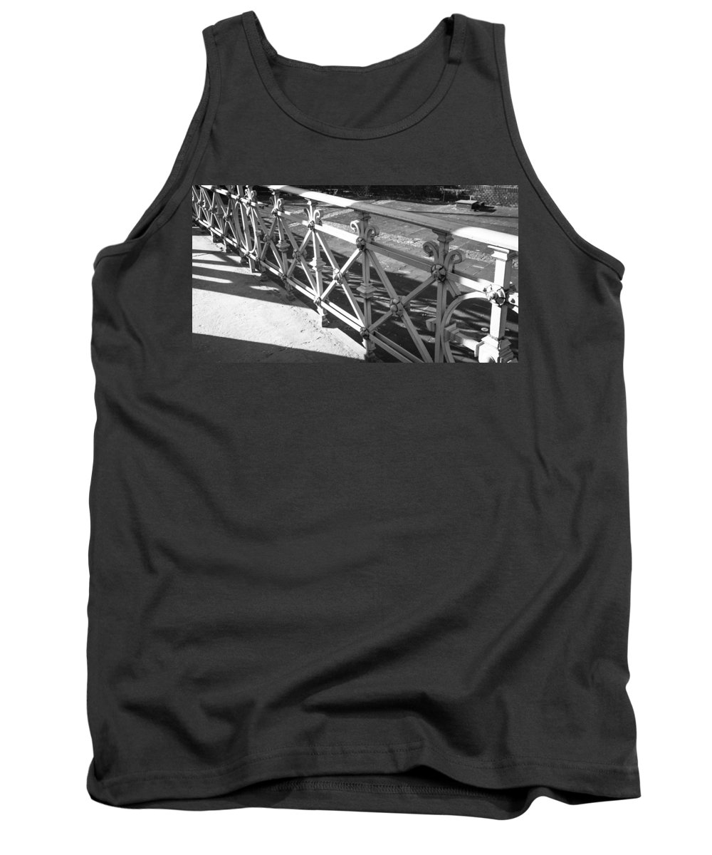 2014 Tank Top featuring the photograph Metal Fence Cologne Germany by Teresa Mucha