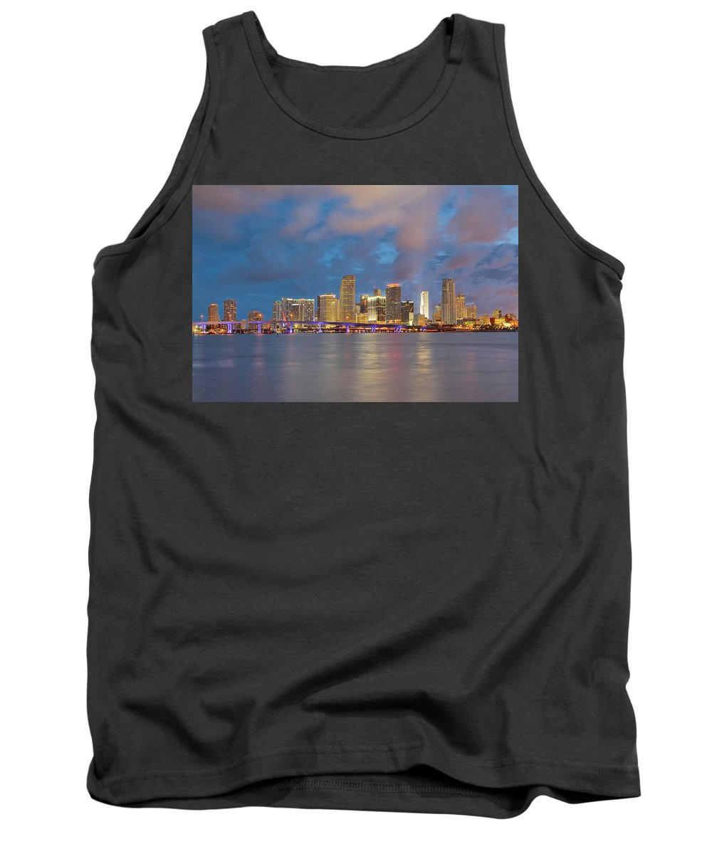 United States Tank Top featuring the photograph Miami - The Magic City by Claudia Domenig
