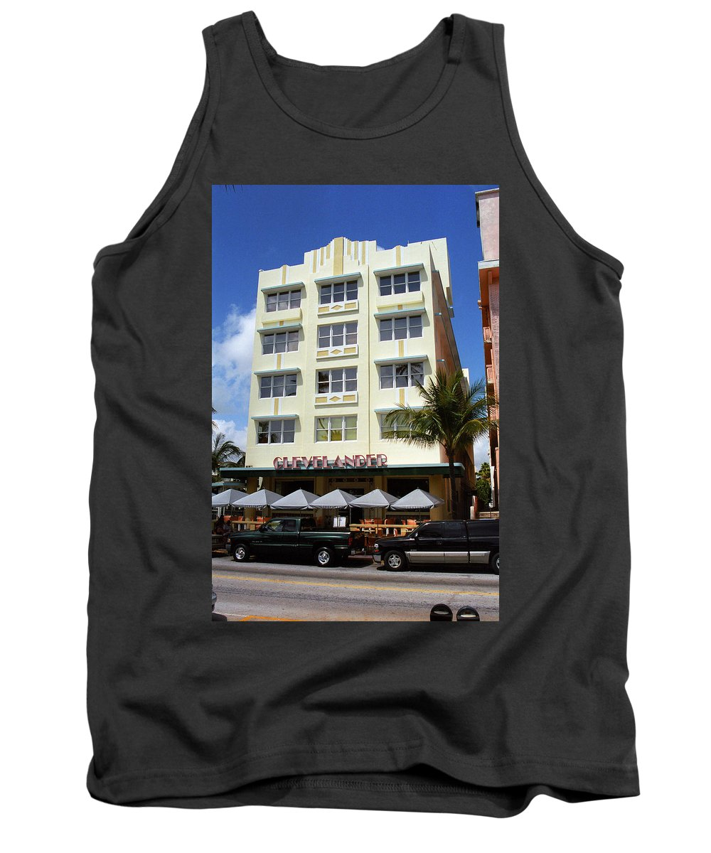 America Tank Top featuring the photograph Miami Beach - Art Deco 43 by Frank Romeo