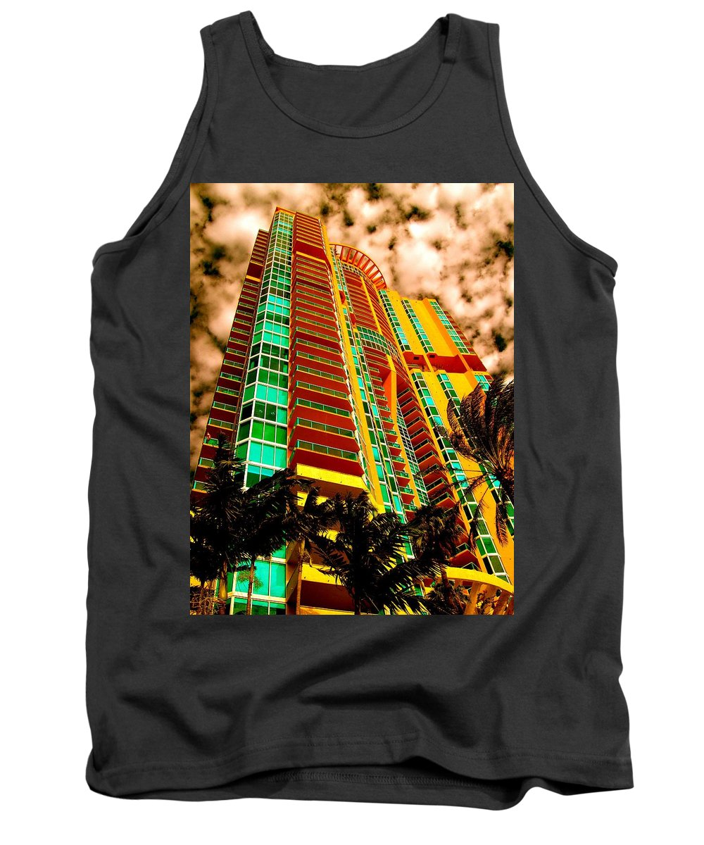 Miami Prints Tank Top featuring the photograph Miami South Pointe II by Monique's Fine Art