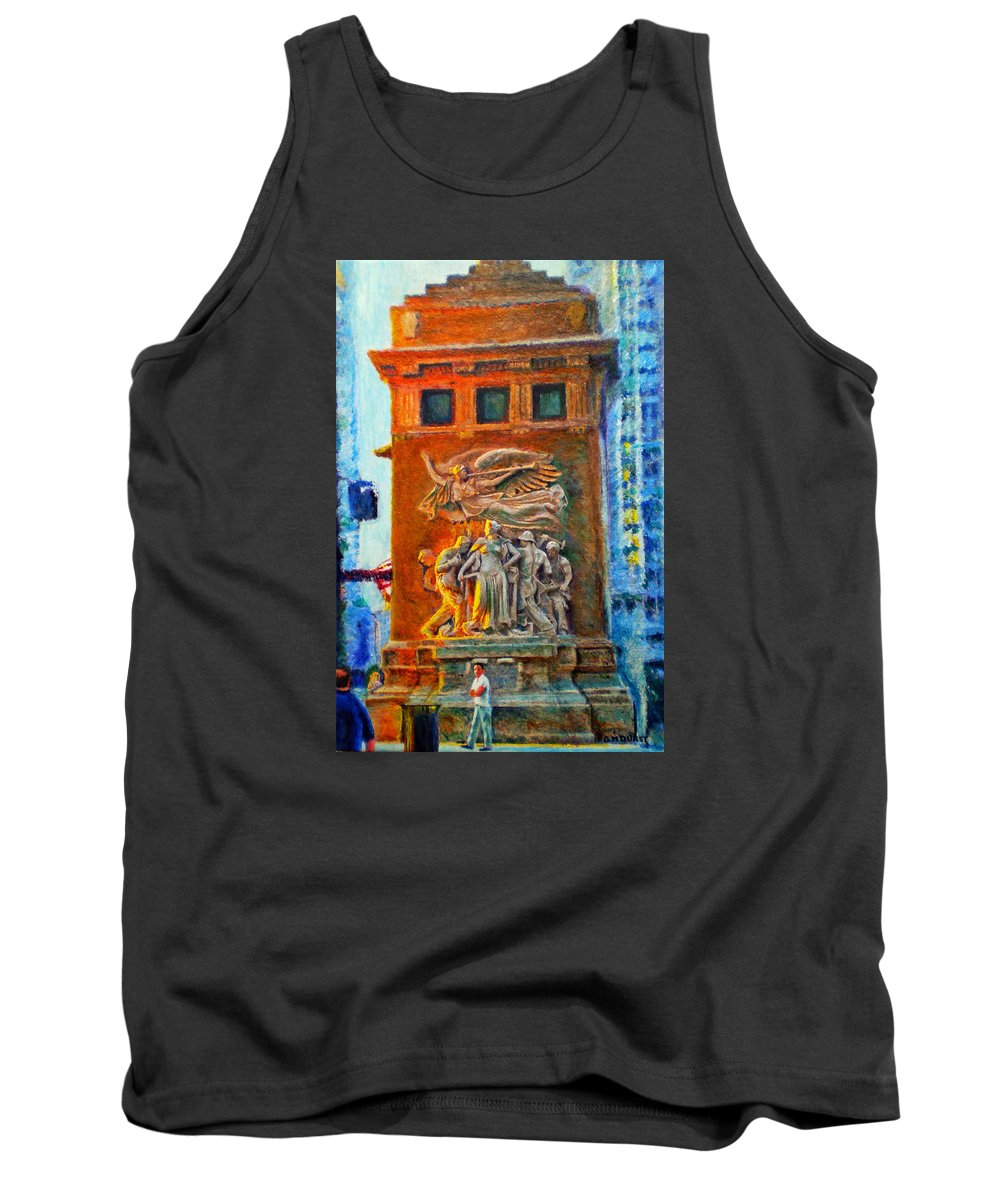 Chicago Tank Top featuring the painting Michigan Avenue Bridge by Michael Durst