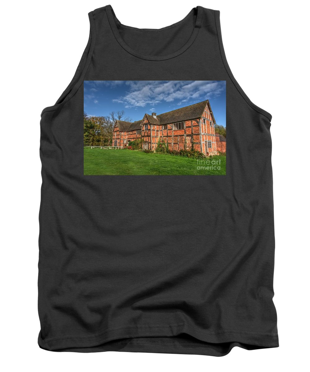 Architecture Tank Top featuring the photograph Middleton Hall Courtyard Centre by Mickey At Rawshutterbug