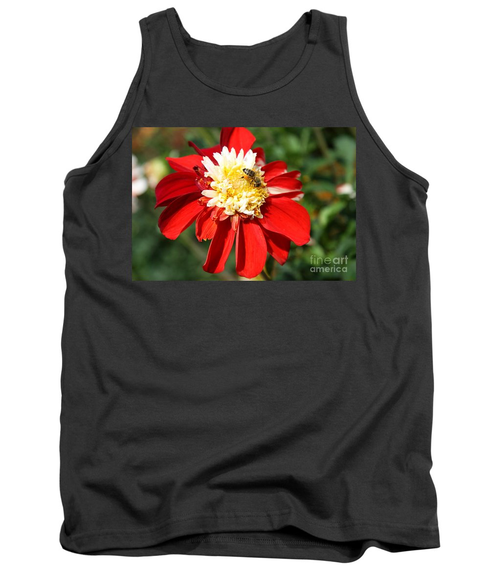 Dahlia Tank Top featuring the photograph Midsummer Beauty by Christiane Schulze Art And Photography