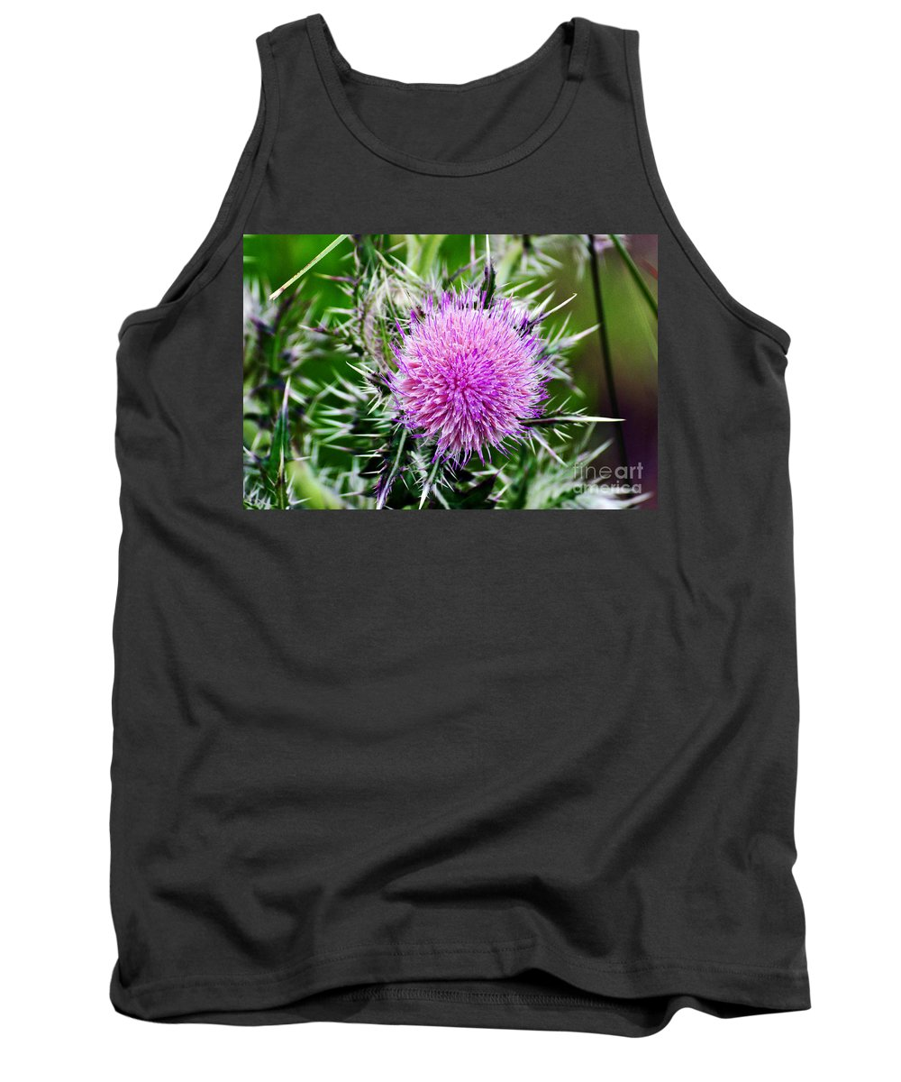 Milk Thistle Tank Top featuring the photograph Milk Thistle by Davids Digits
