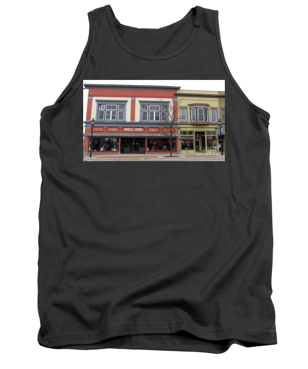 Clare Tank Top featuring the photograph Mill End Store In Clare Michigan by Terri Gostola