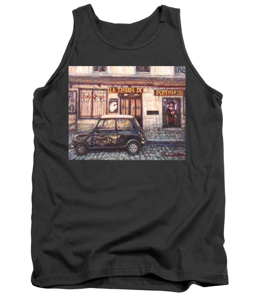 Quin Sweetman Tank Top featuring the painting Mini De Montmartre by Quin Sweetman