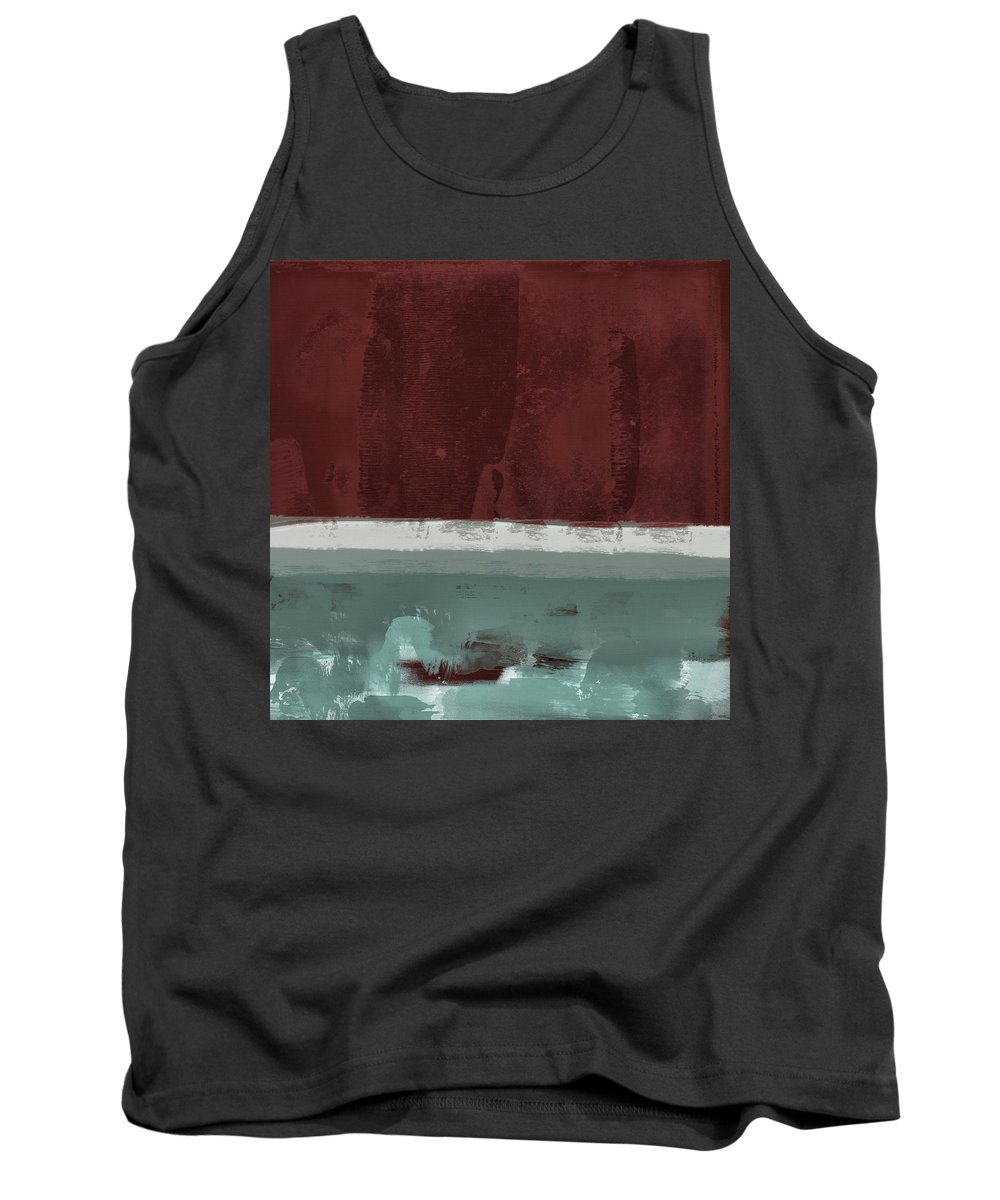 Red Tank Top featuring the painting Minima - Brg01dd by Variance Collections