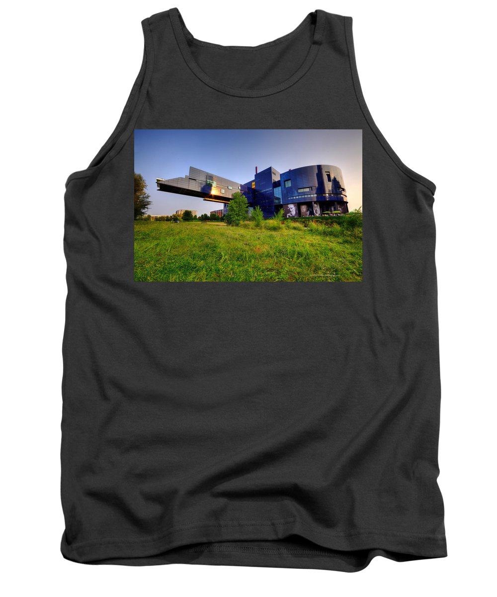 Architecture Tank Top featuring the photograph Minneapolis Guthrie Theater Summer Evening by Wayne Moran