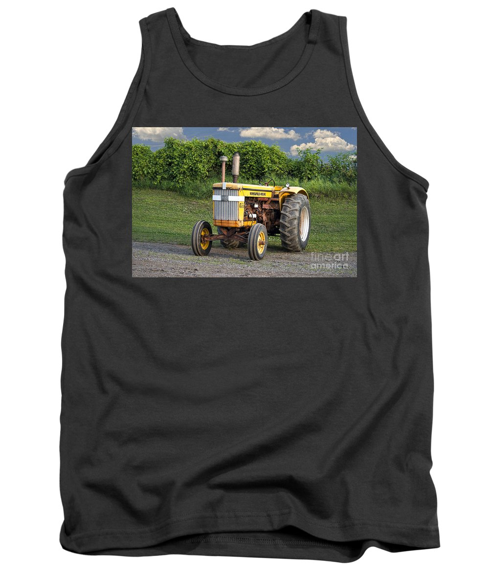 Farm Tank Top featuring the photograph Minneapolis Moline by David Arment
