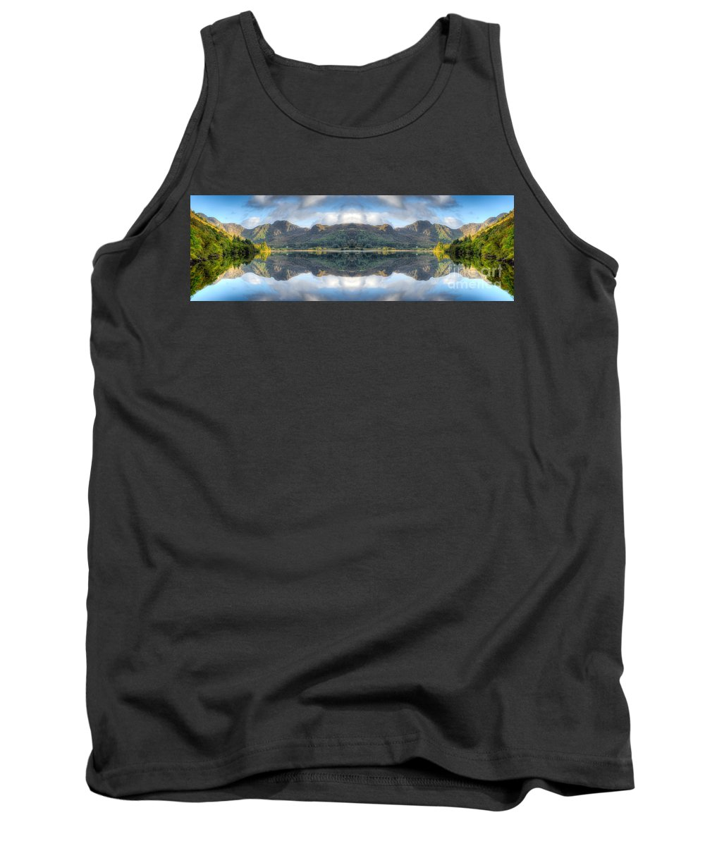 Hdr Tank Top featuring the photograph Mirror Lake by Adrian Evans