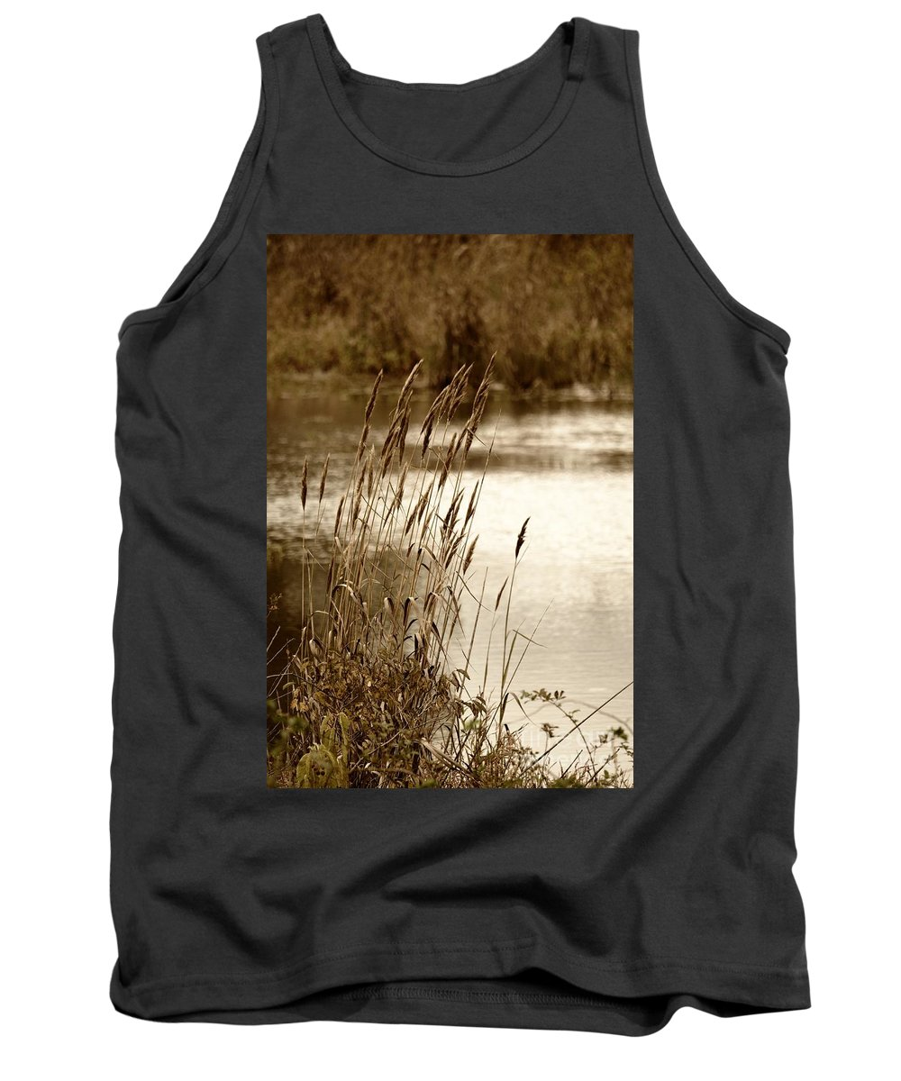 Mirroring Nature Tank Top featuring the photograph Mirroring Nature by Maria Urso