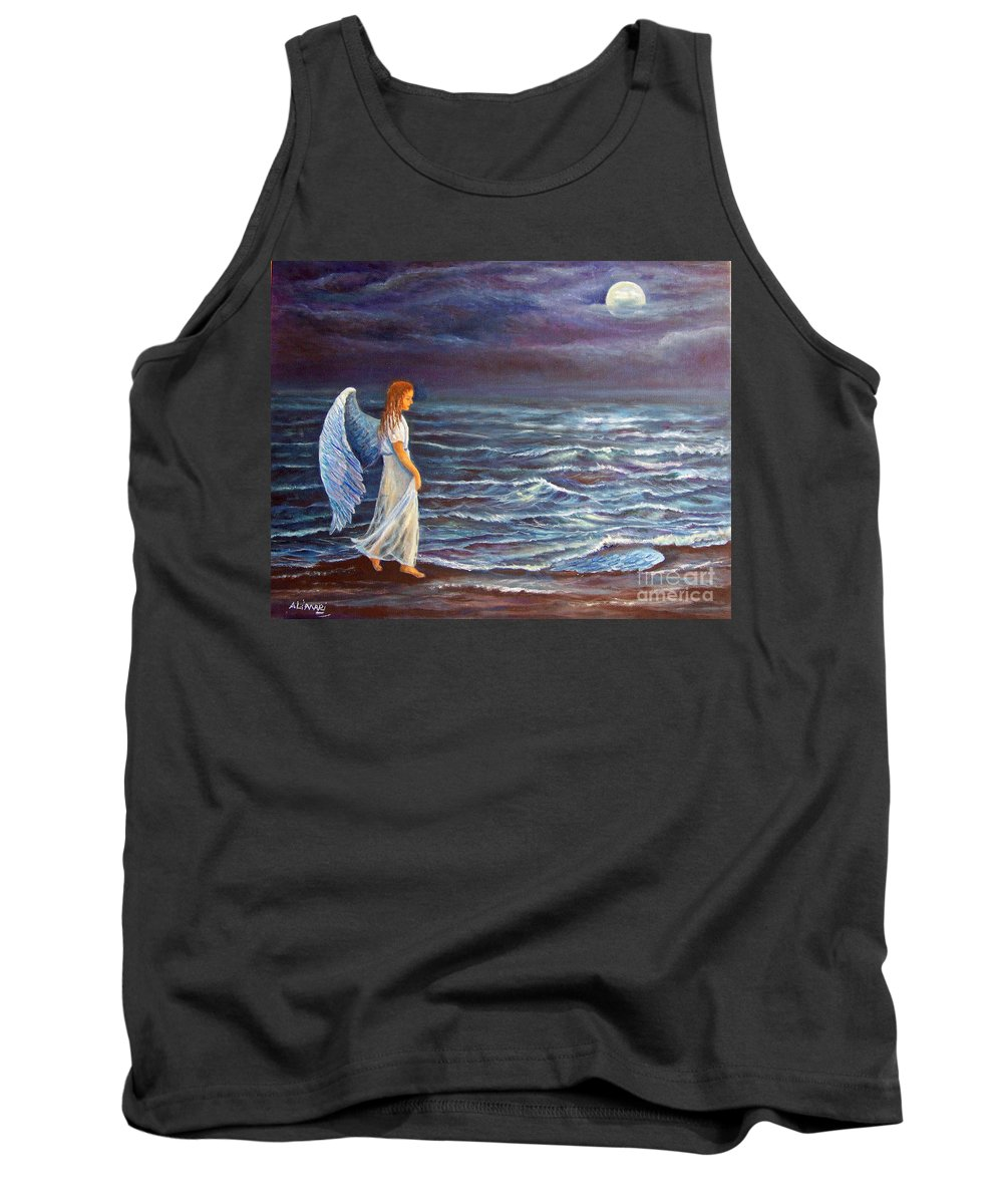 Angel Tank Top featuring the painting Missing Wing by Alina Martinez-beatriz