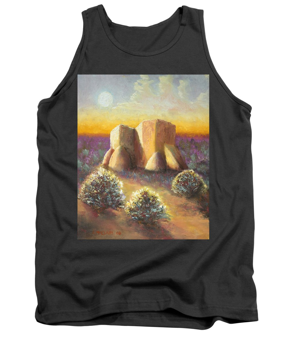 Landscape Tank Top featuring the painting Mission Imagined by Jerry McElroy