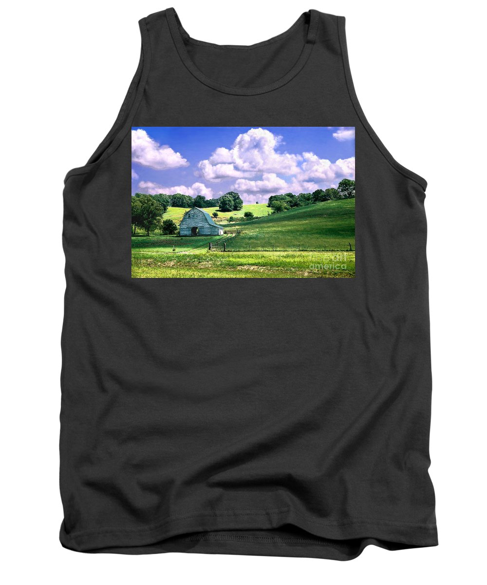Landscape Tank Top featuring the photograph Missouri River Valley by Steve Karol