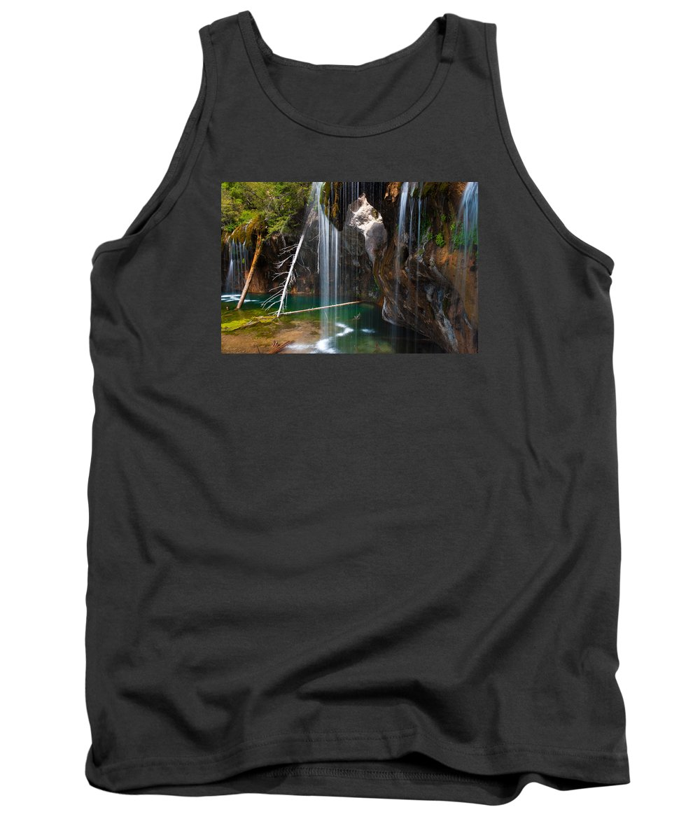 Colorado Tank Top featuring the photograph Misty Falls At Hanging Lake by John Hoffman