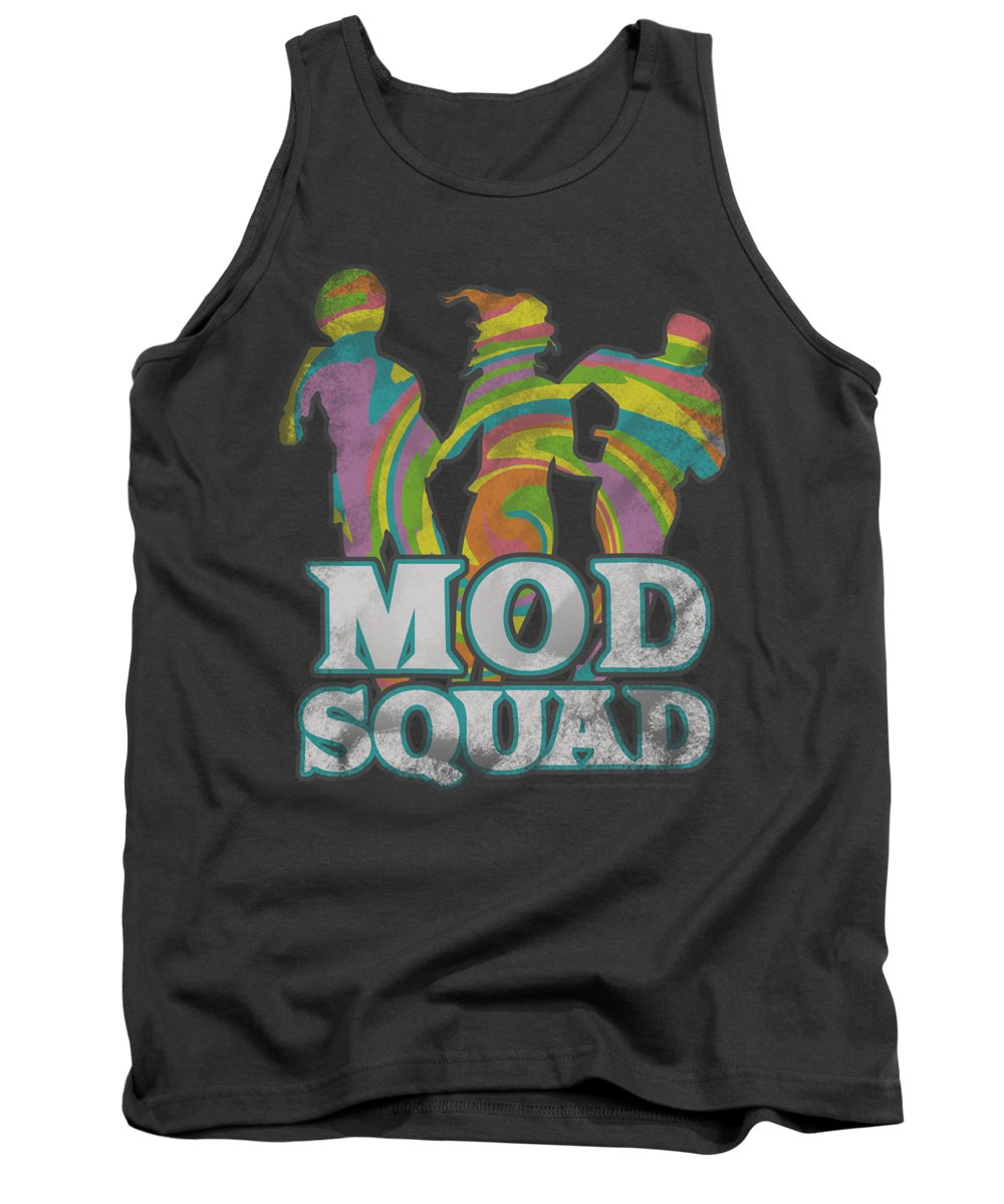 Mod Squad Tank Top featuring the digital art Mod Squad - Mod Squad Run Groovy by Brand A