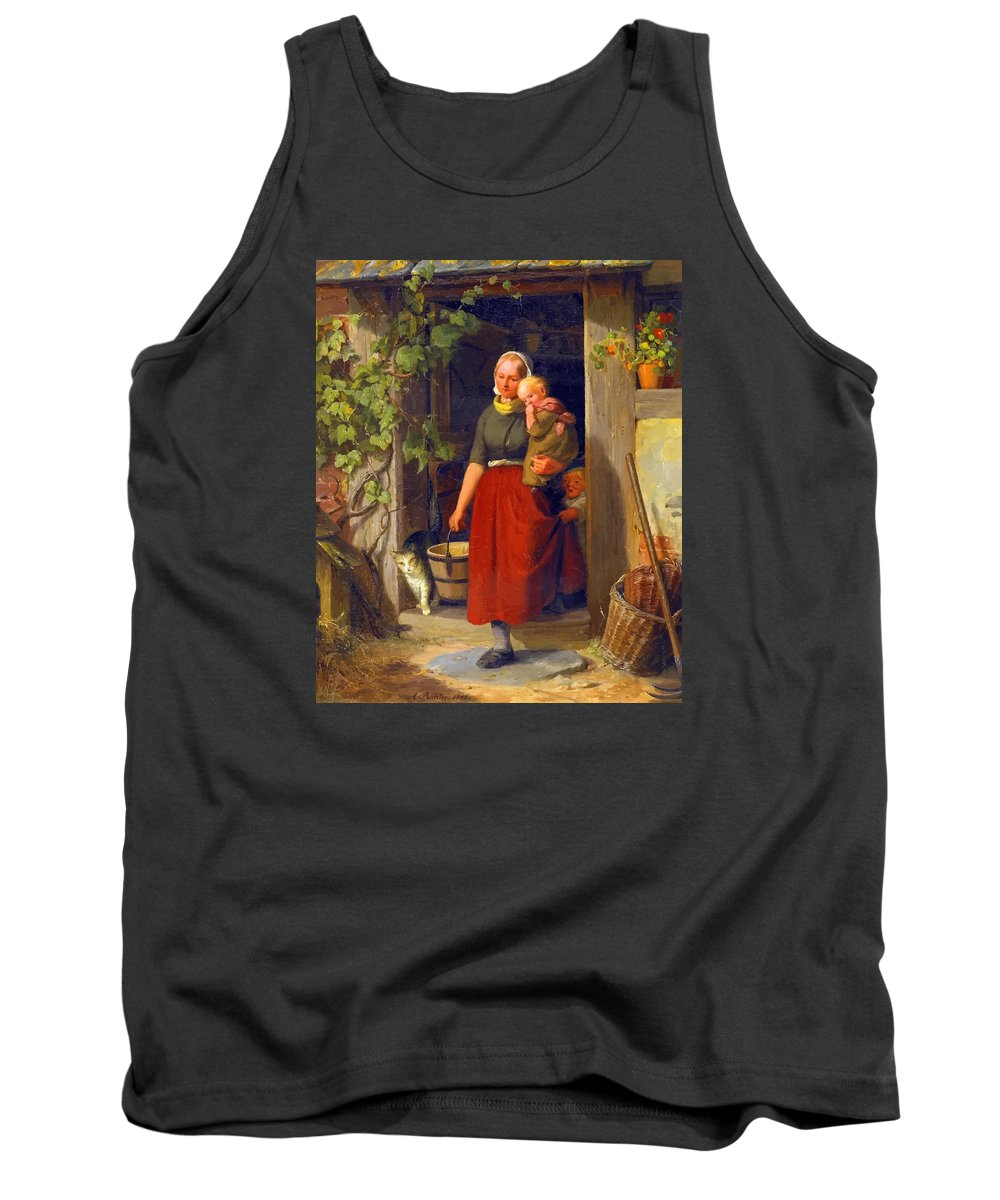 Decorative Tank Top featuring the digital art Mom I Love You by Don Kuing