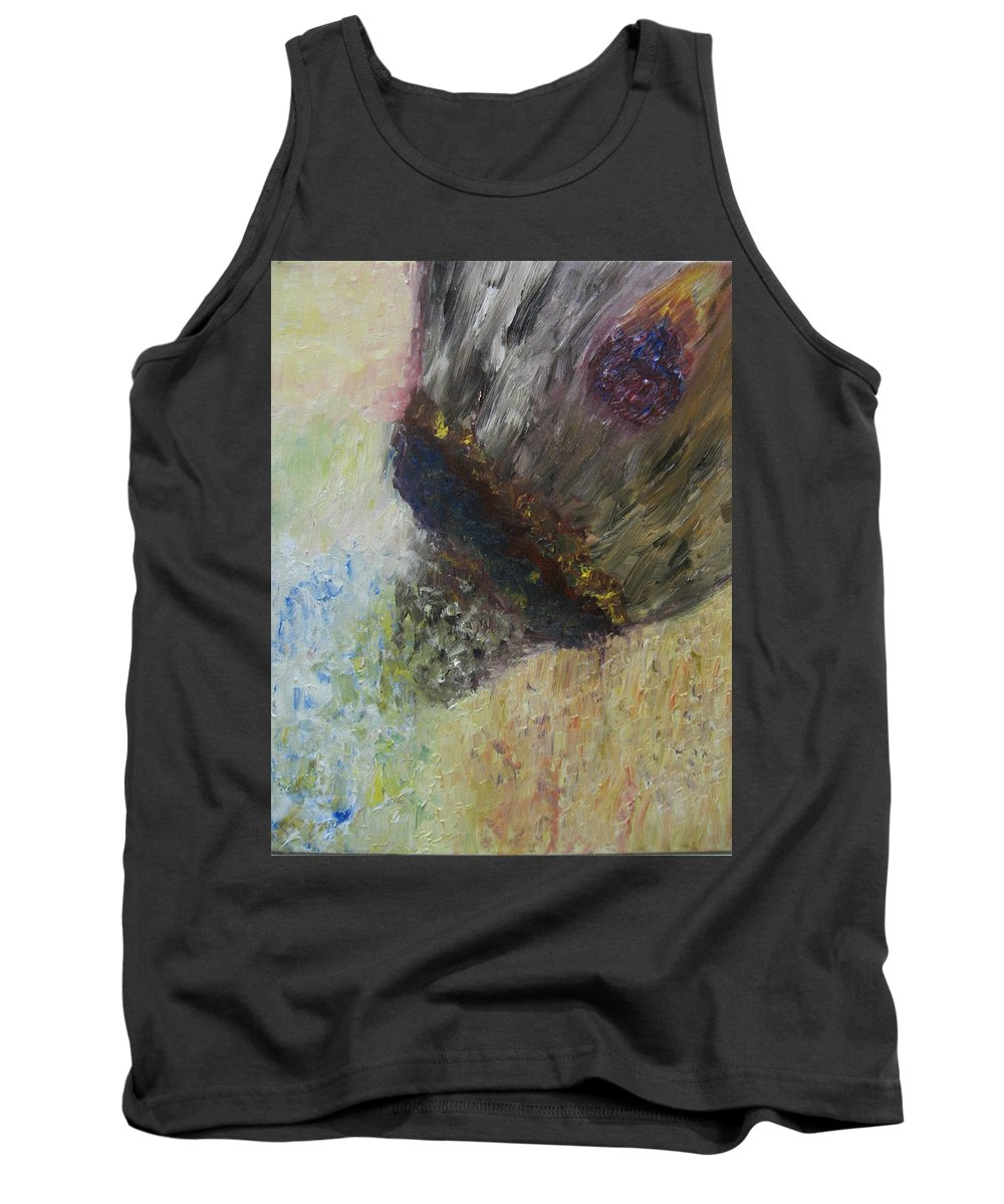 Abstract Tank Top featuring the painting Moment Of Creation by Michael Benjamin