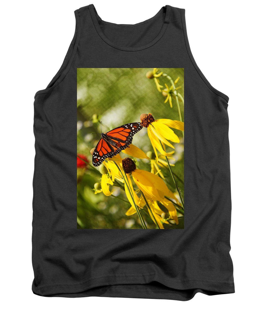 Butterfly Tank Top featuring the photograph Monarch Days 1 by Jayne Gohr