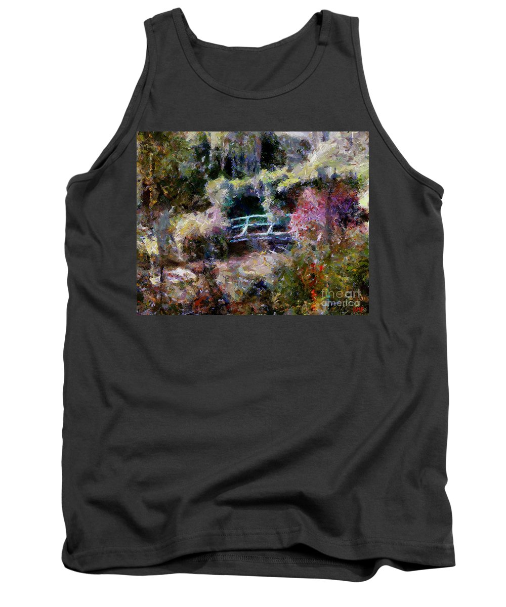 Landscapes Tank Top featuring the painting Monet's Bridge In Autumn by Dragica Micki Fortuna