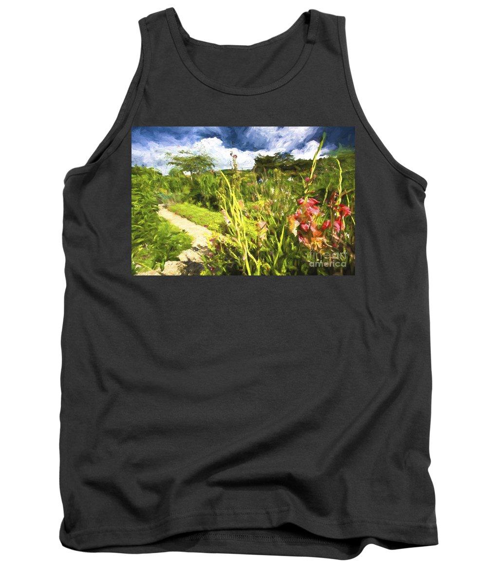 Flowers Tank Top featuring the photograph Monets Garden by Sheila Smart Fine Art Photography