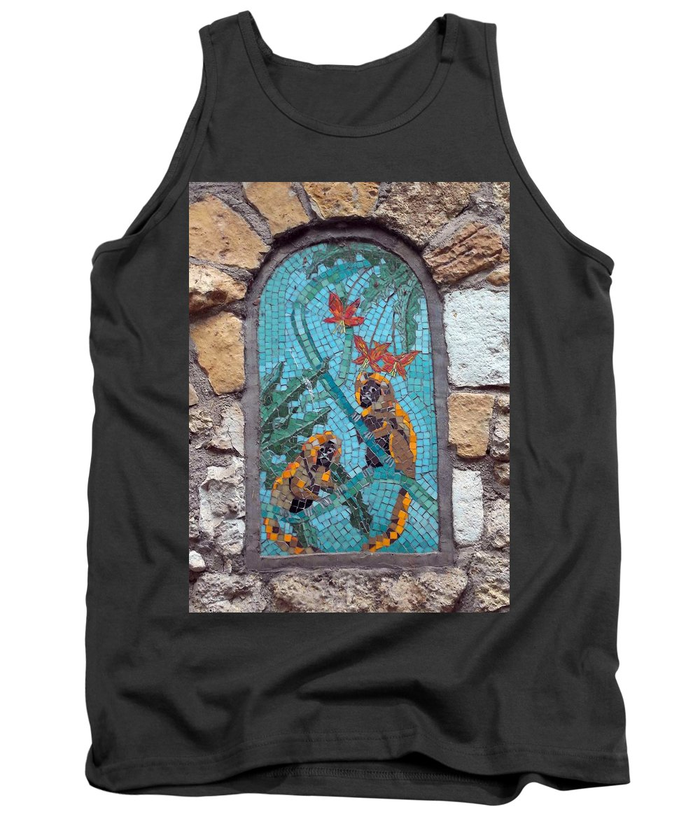 Monkey Tank Top featuring the photograph Monkey's Mosiac 03 by Pamela Critchlow