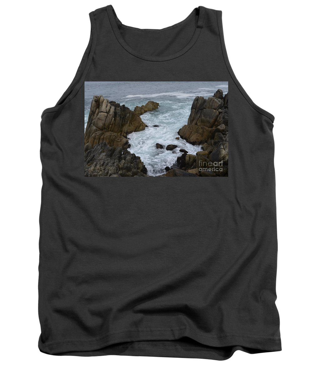 Monterey Tank Top featuring the photograph Monterey Rocks - California by S Mykel Photography