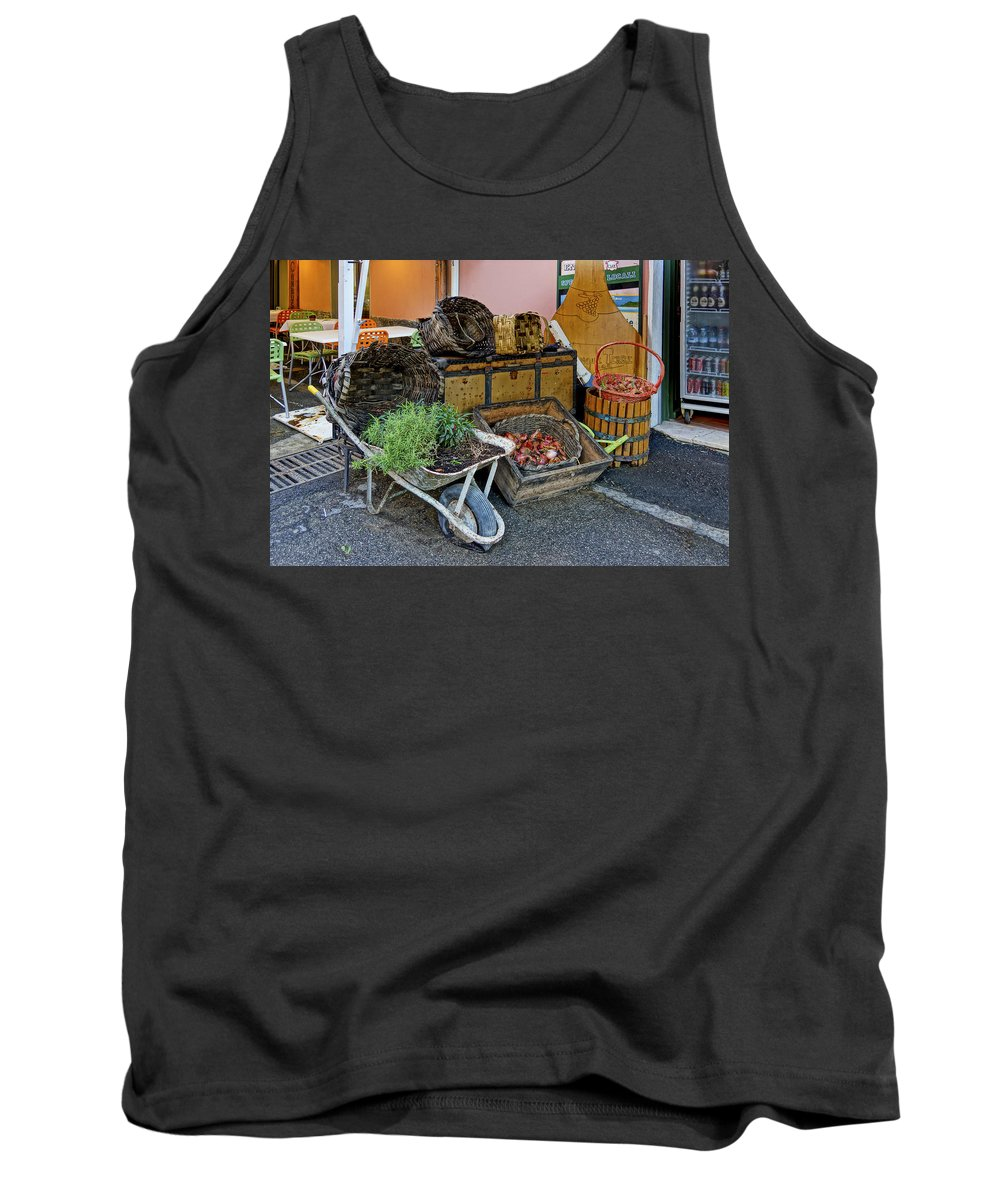 Cinque Terre Tank Top featuring the photograph Monterosso Italy Dsc02585 by Greg Kluempers
