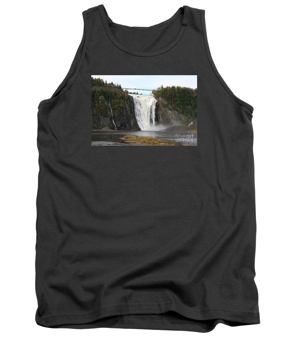 Waterfall Tank Top featuring the photograph Montmorency Waterfall - Canada by Christiane Schulze Art And Photography