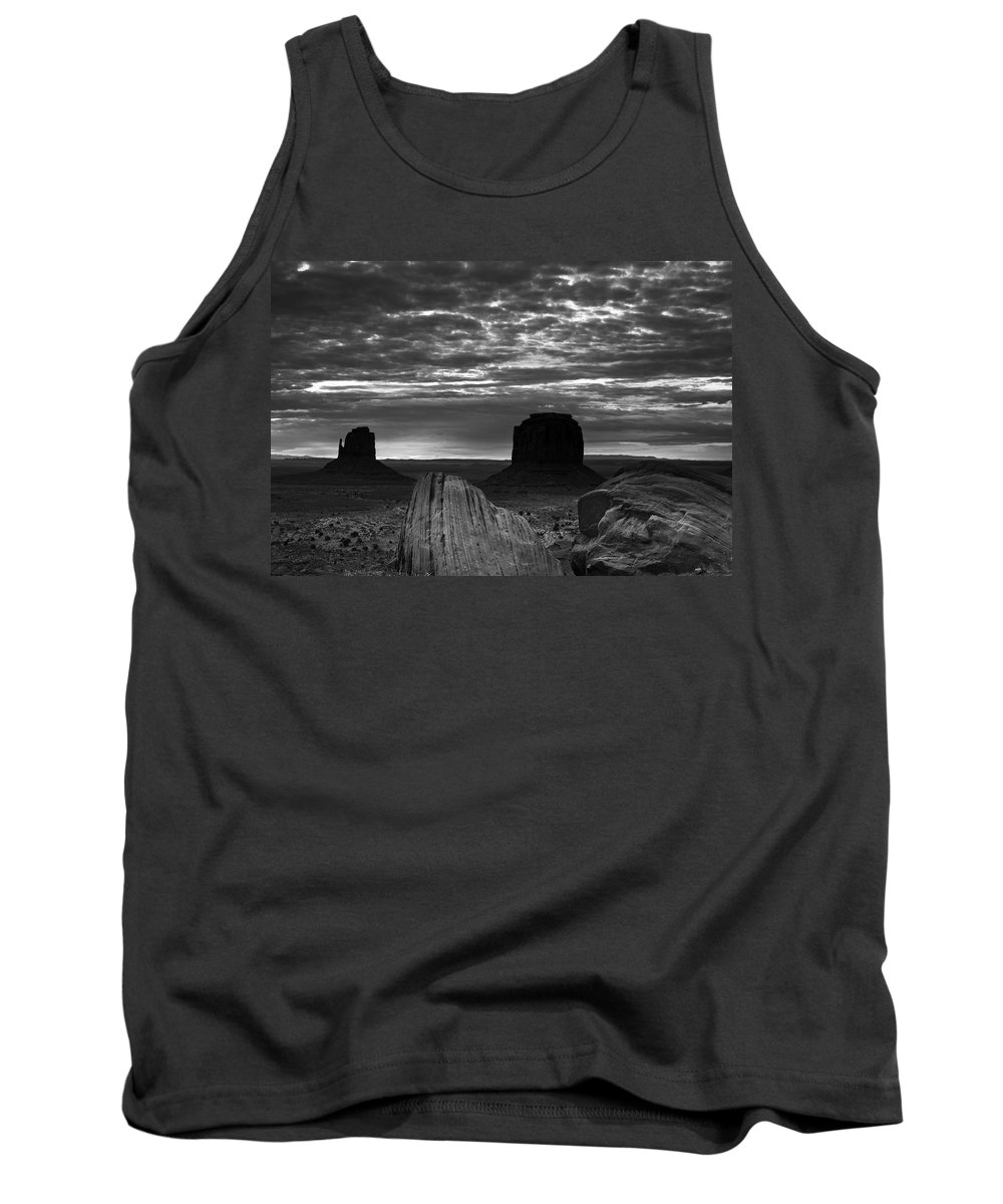 Atmosphere Tank Top featuring the photograph Monument Valley 001 by Ingrid Smith-Johnsen