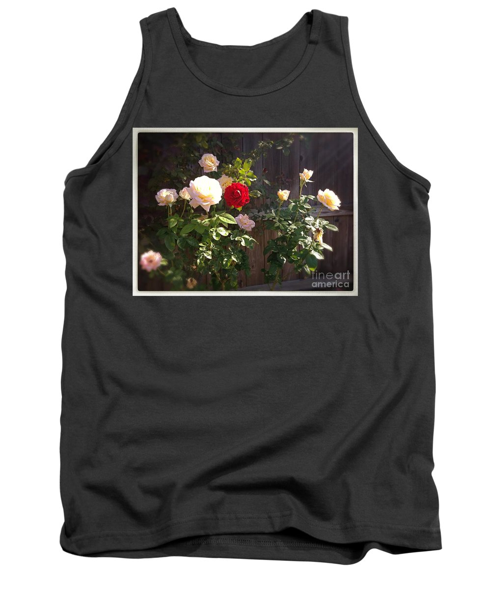Roses Tank Top featuring the photograph Morning Glory by Vonda Lawson-Rosa