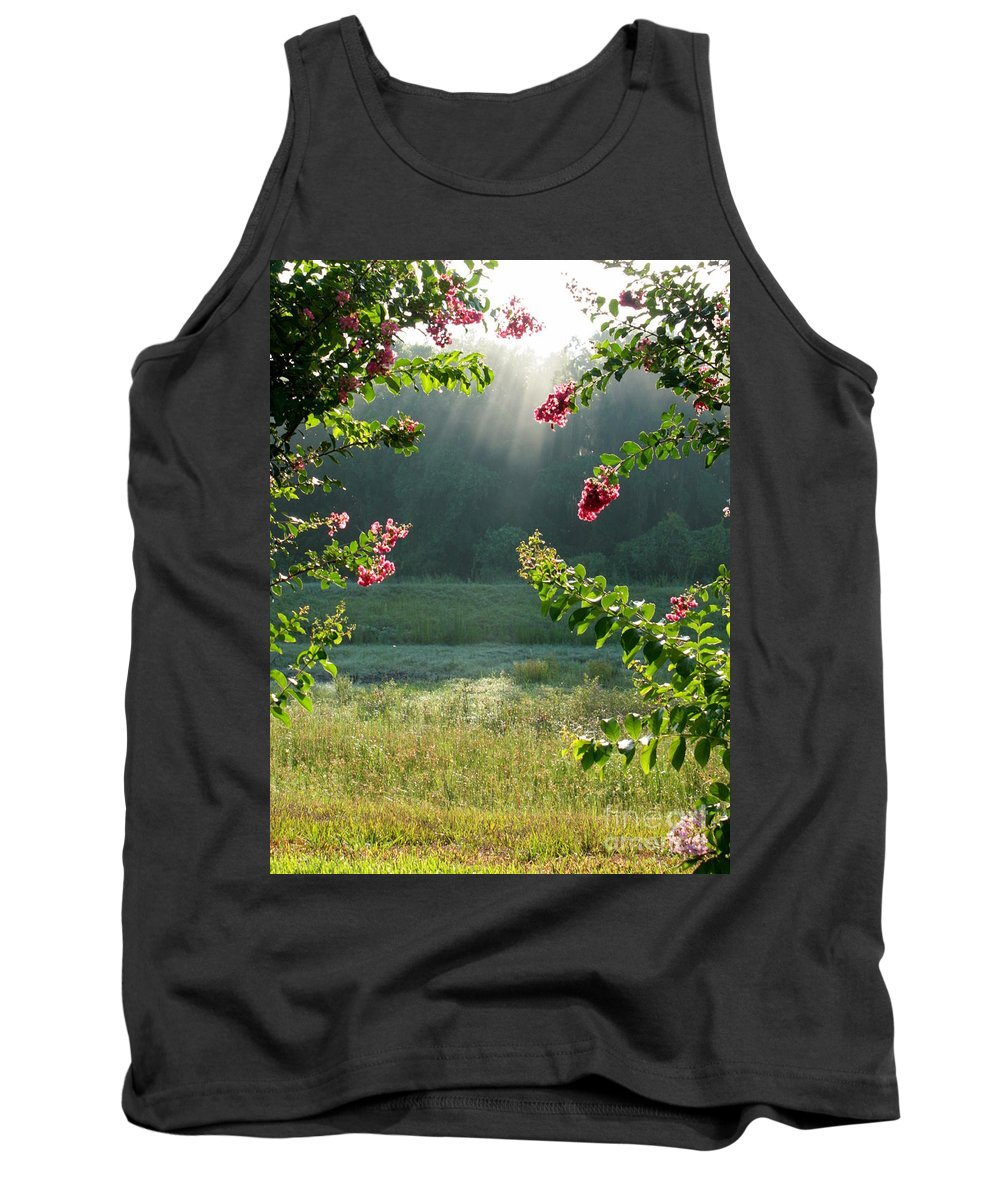 Crape Myrtle Tank Top featuring the photograph Morning Marsh by Carol Groenen