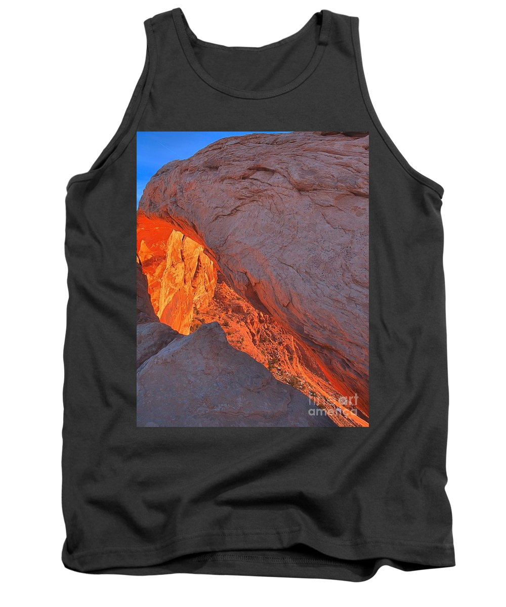 Mesa Arch Tank Top featuring the photograph Morning Orange Slice by Adam Jewell