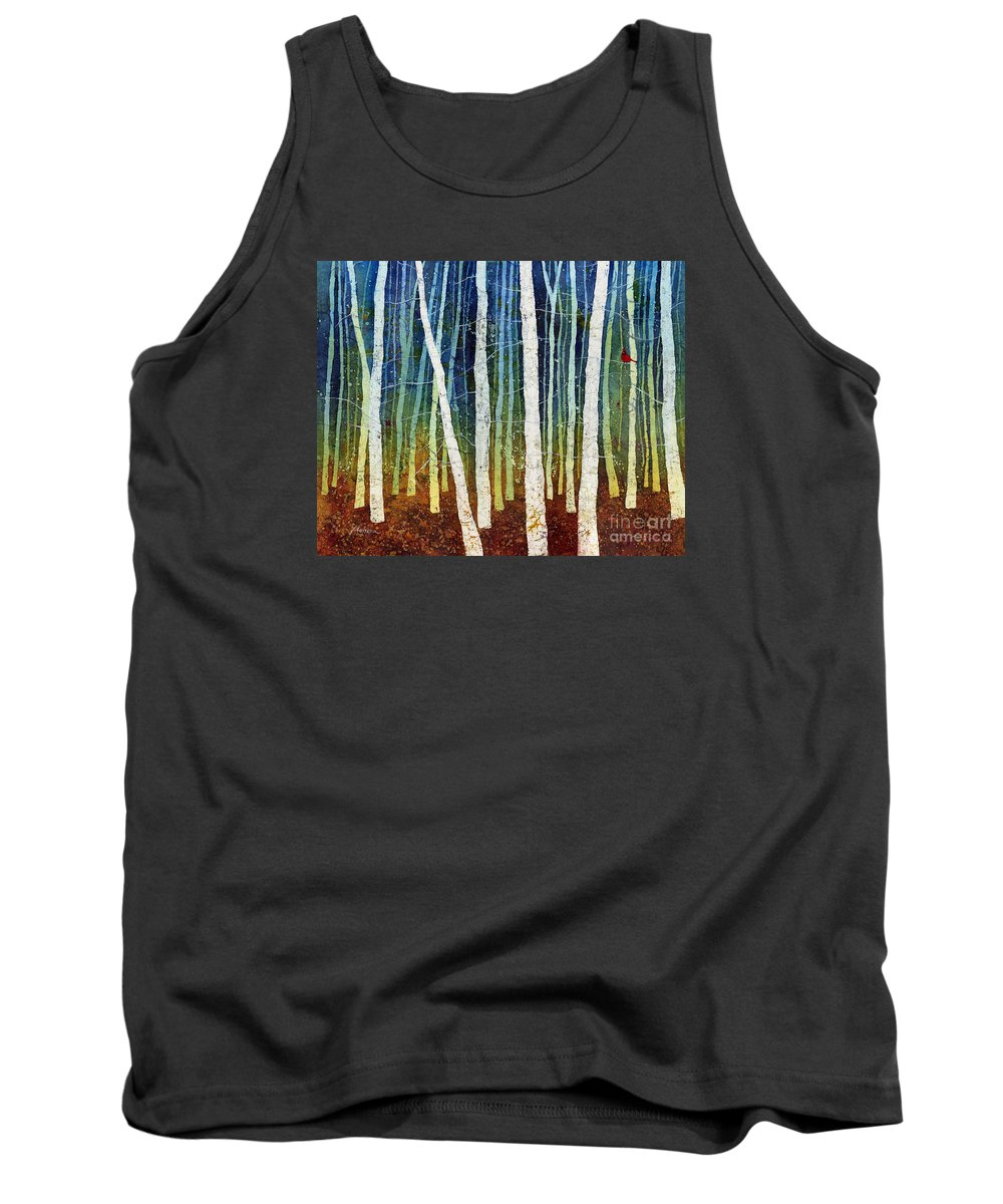 Cardinal Tank Top featuring the painting Morning Song 3 by Hailey E Herrera
