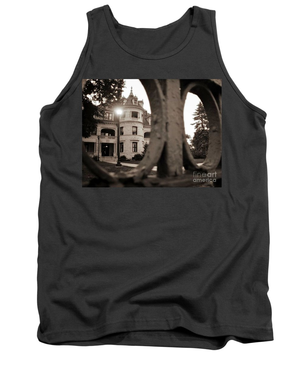 Landscape Tank Top featuring the photograph Morrison Hall by Chet B Simpson