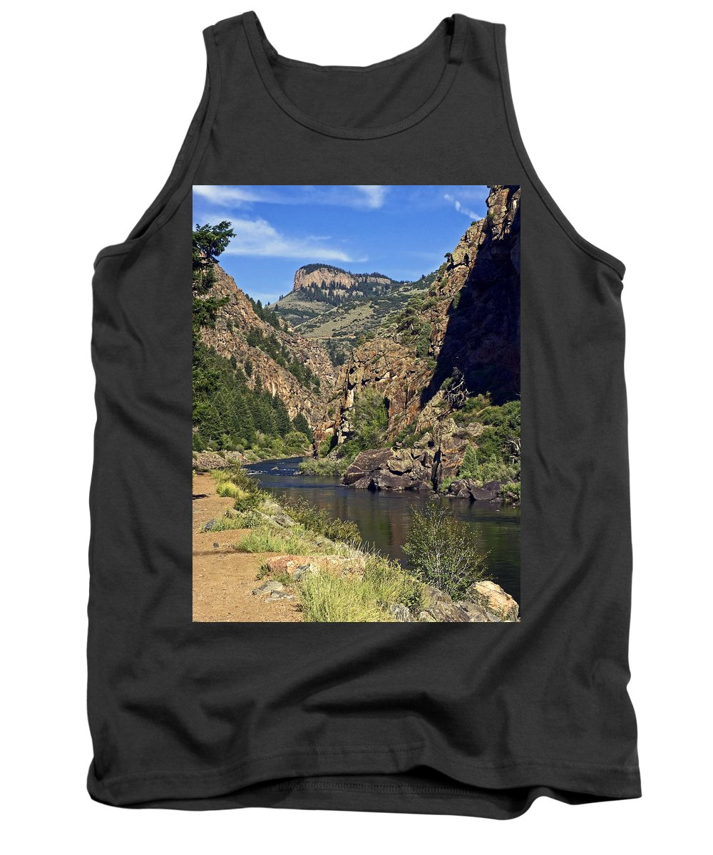 Morrow Point Reservoir Tank Top featuring the photograph Morrow Point Reservoir by Sally Weigand