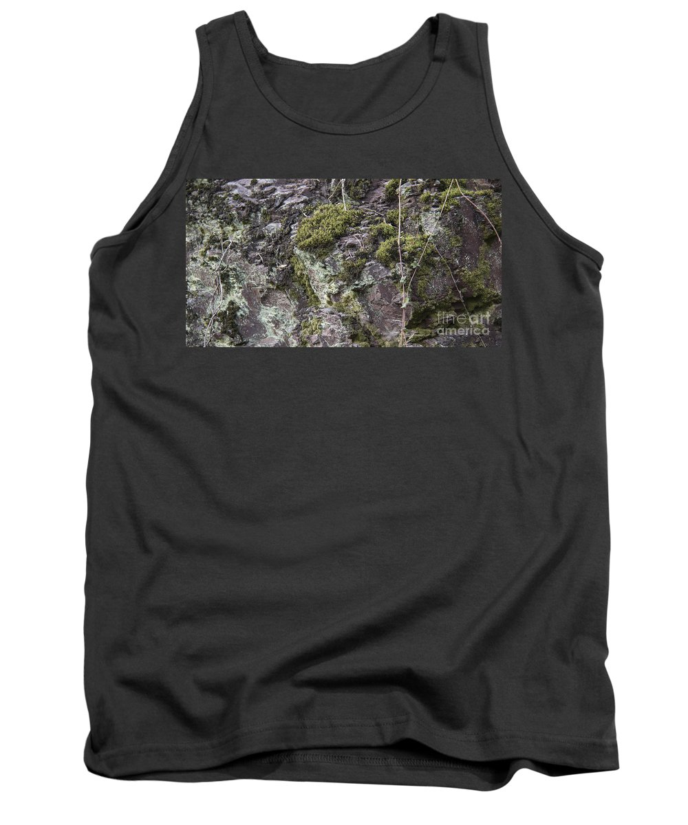 Lichen Tank Top featuring the photograph Moss And Lichen by Teresa Mucha