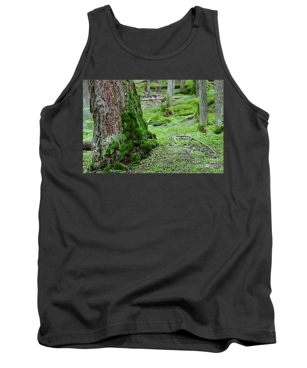 Nature Tank Top featuring the photograph Mossy Endevor by Nikki Vig