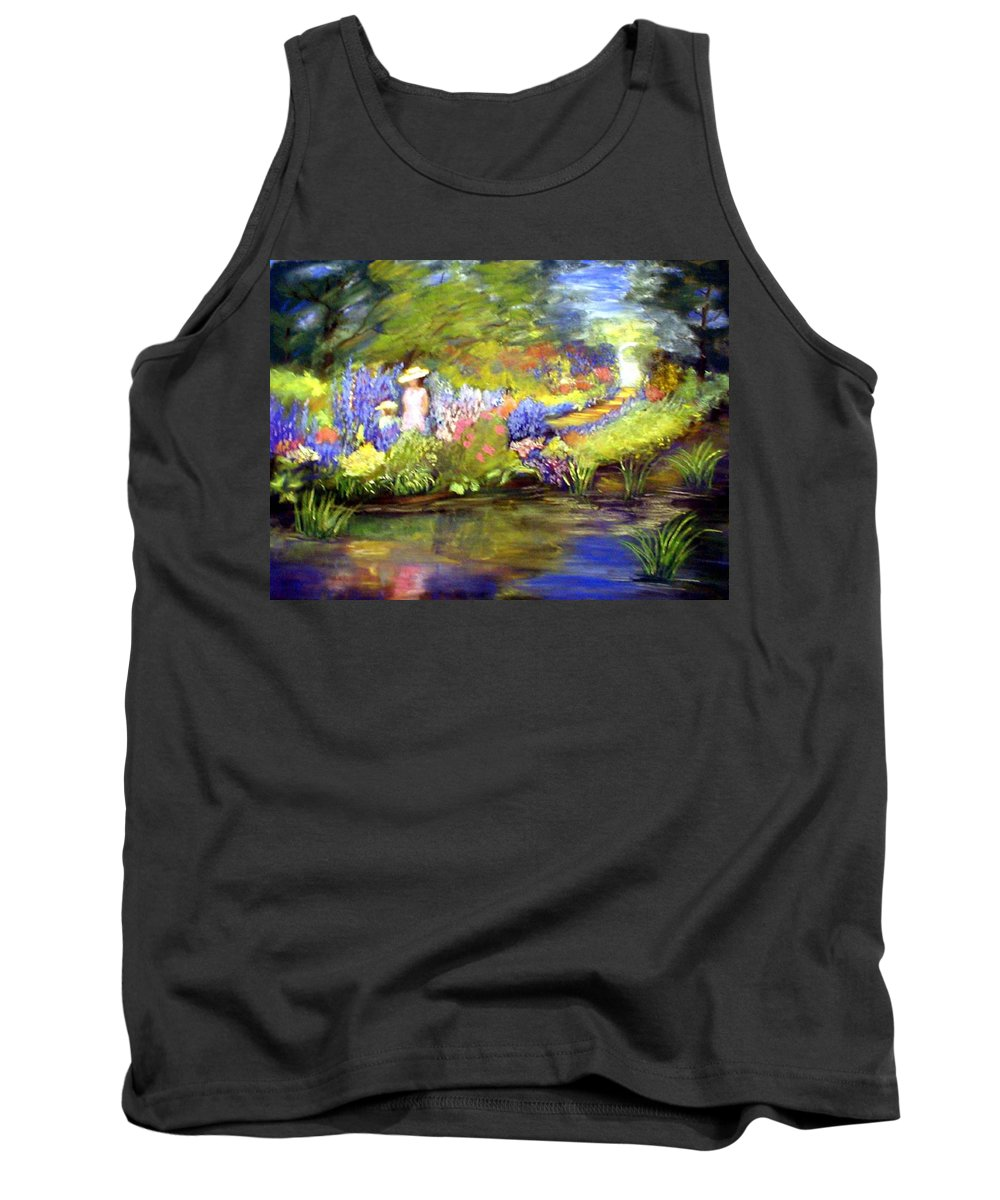 Flower Garden Tank Top featuring the painting Mother and Daughter by Gail Kirtz