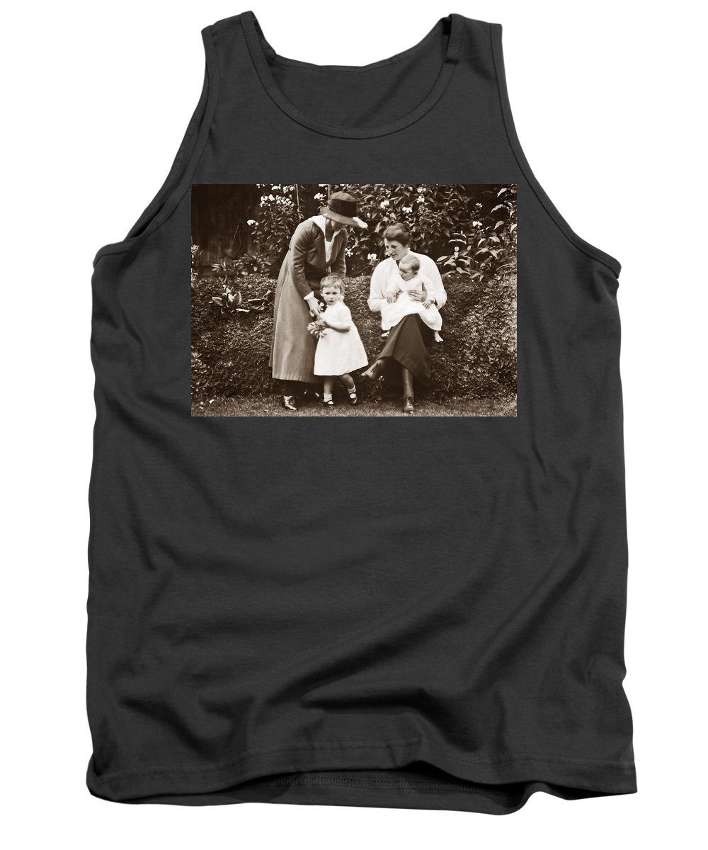 Mother Tank Top featuring the photograph Mothers With Children by Photographer unknown