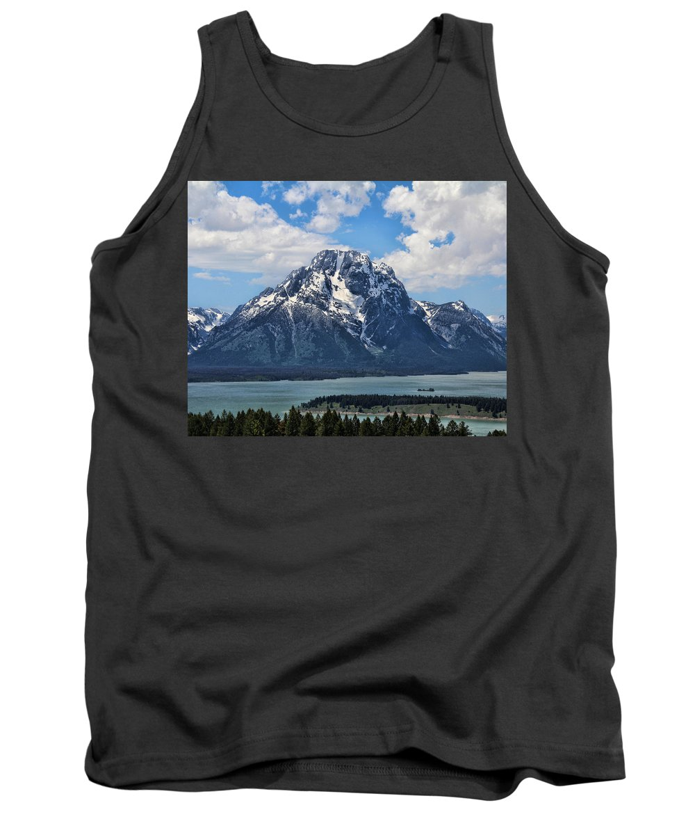 Mount Moran Tank Top featuring the photograph Mount Moran by Jemmy Archer