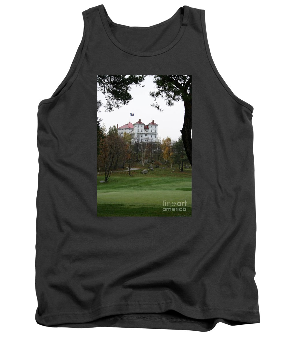 Mount Washington Tank Top featuring the photograph Mount Washington Hotel - Bretton Woods by Christiane Schulze Art And Photography