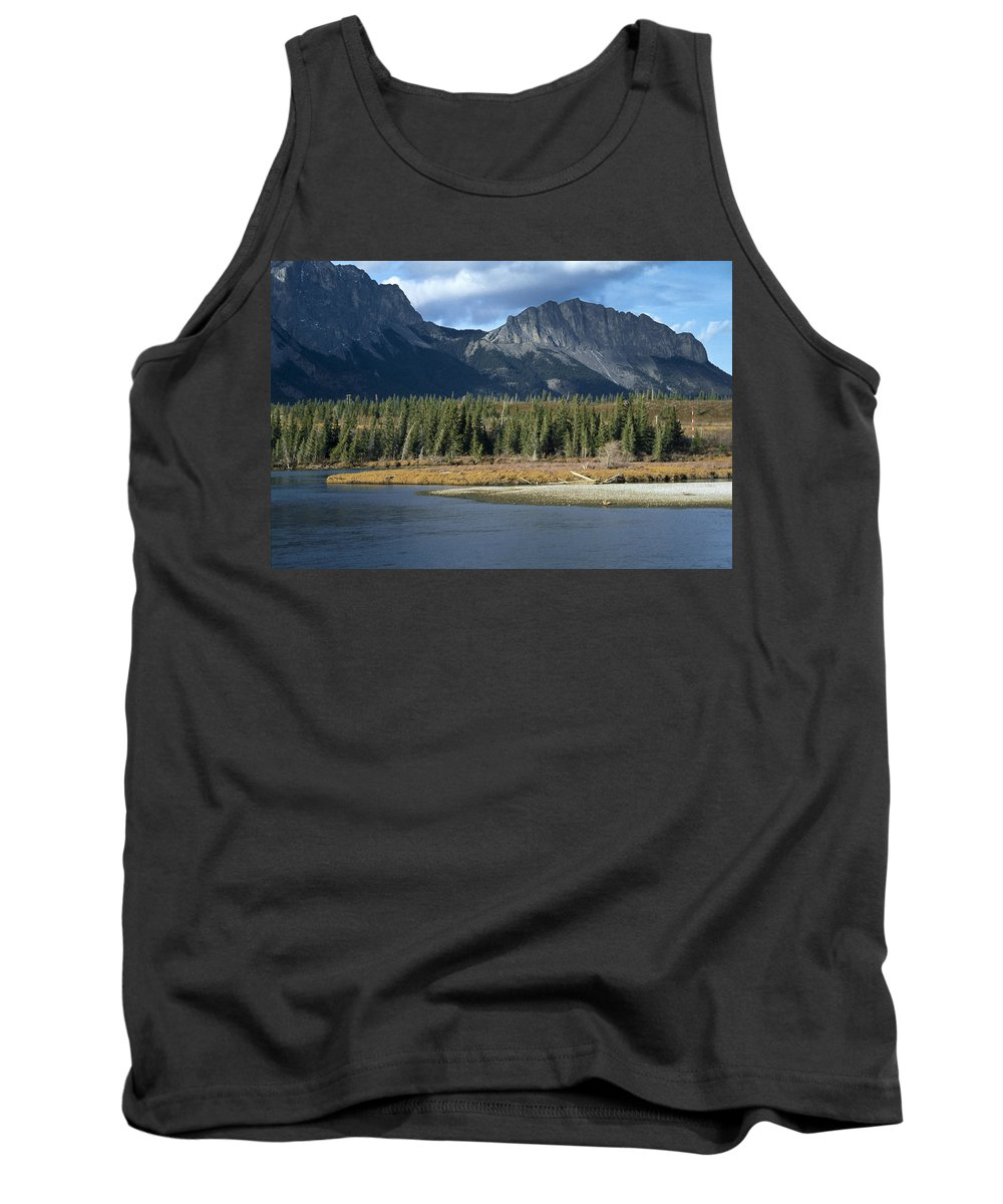 Bow River Tank Top featuring the photograph Mount Yamnuska by Roderick Bley