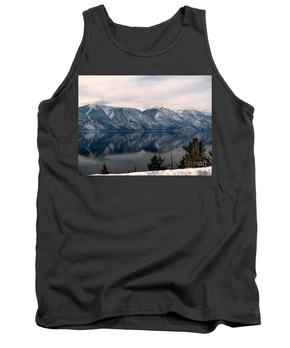 Selkirk Tank Top featuring the photograph Mountain Reflections by Leone Lund