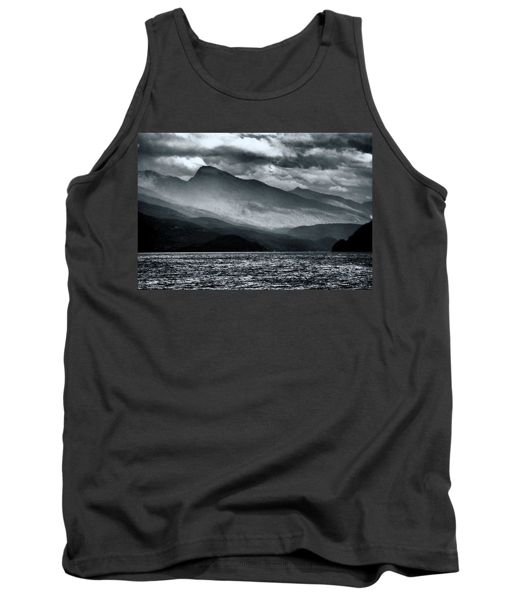 Americas Tank Top featuring the photograph Mountain Storm Clouds by Roderick Bley