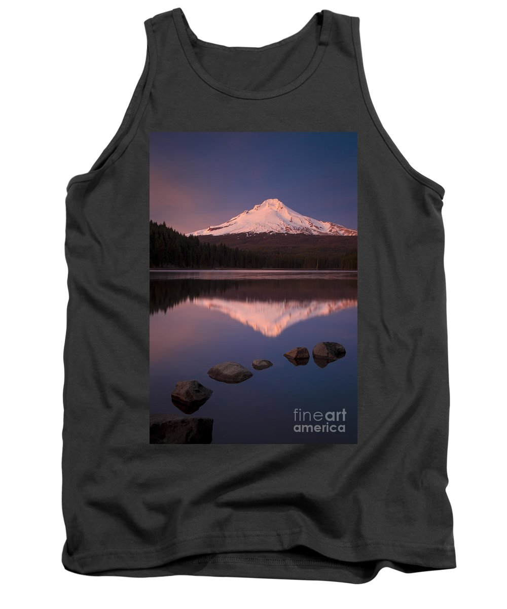 America Tank Top featuring the photograph Mt Hood Reflection by Brian Jannsen
