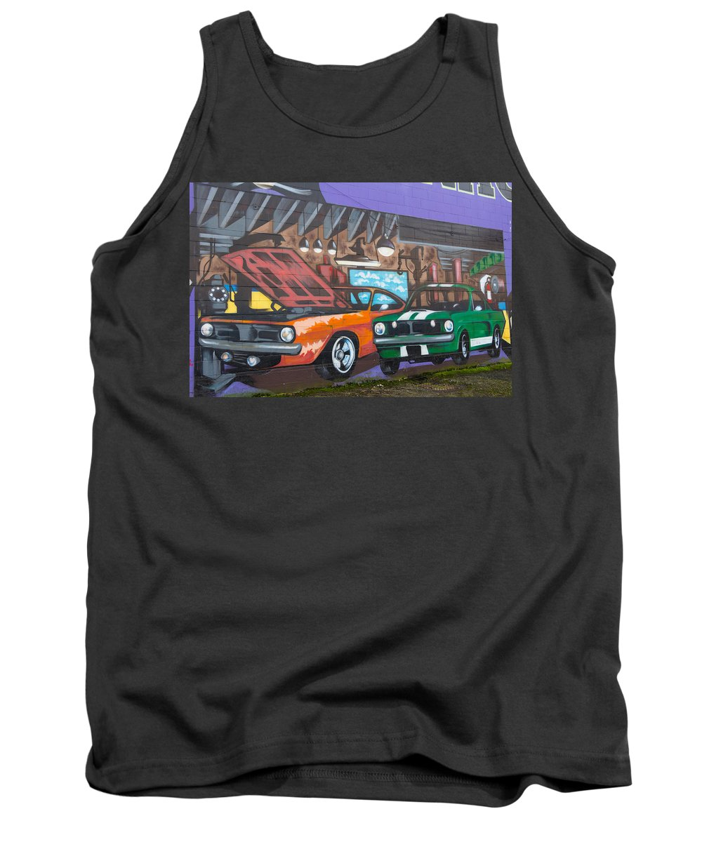 Car Tank Top featuring the photograph Muscle Cars by Brigitte Mueller