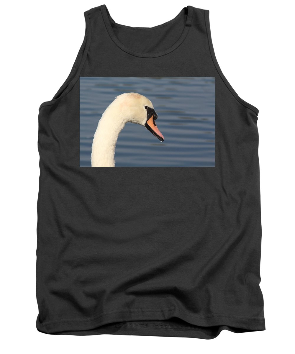 British Tank Top featuring the photograph Mute Swan by Nicholas Miller