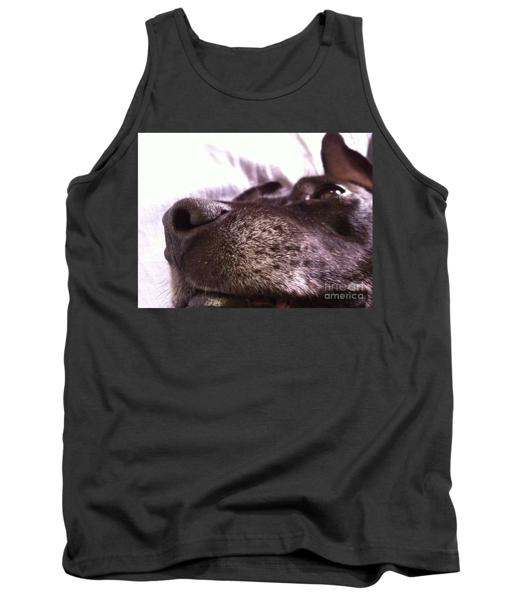 Dog Tank Top featuring the photograph My Dog Bud by Melissa Darnell Glowacki