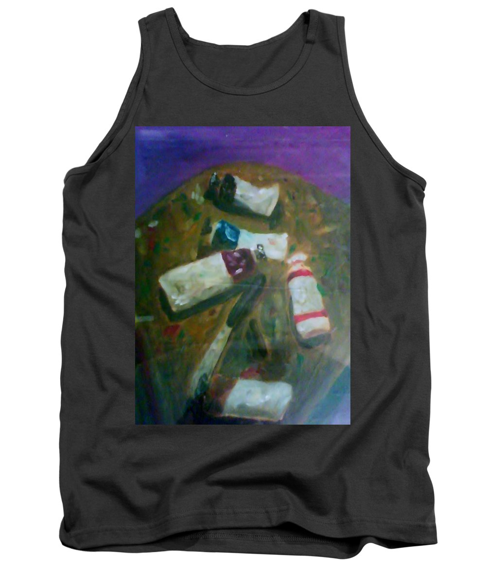 Paint Tank Top featuring the painting My Paints by Sean King